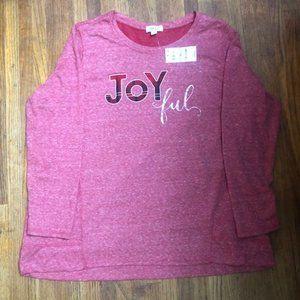 Style & Co. Women' Joyful Red Heathered Sweatshirt